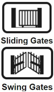 sliding and swing gate illustration