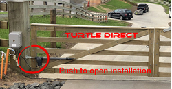 Turtle Push  to Open  installation