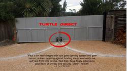Turtle Swing Gate Opener Wheel Type