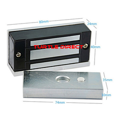Magnetic lock for gate opener