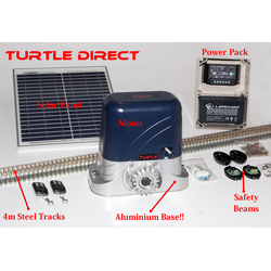 Sliding Gate Opener 12V / 24V Solar Powered / Turtle Direct