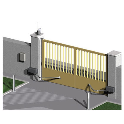 Articulated swing gate opener