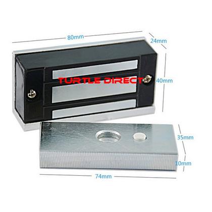 Magnetic lock for gate opener